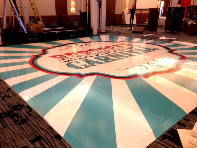 Carnival Floor Wrap - Wrap Guys