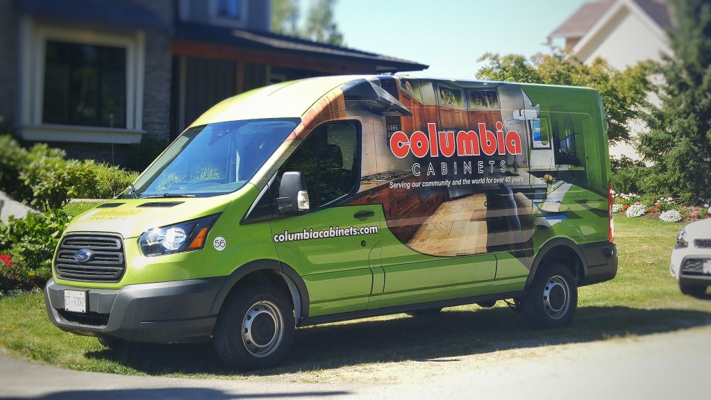Columbia Cabinets Partial Van Wrap - Wrap Guys