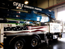 CF&T Concrete Pump Grahpics