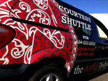 Courtesy Shuttle Full Vehicle Wrap