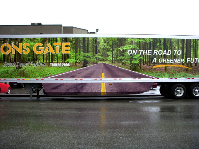 Tractor Trailer Graphic Wrap