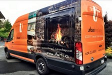 Urban Fireplace Van Wrap