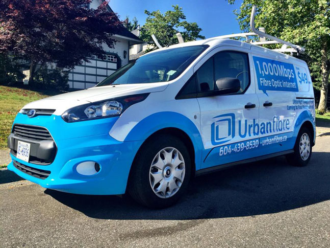 Urbanfibre Work Vehicle Vinyl Wrap