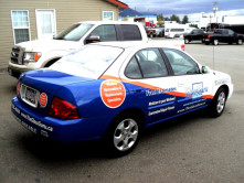 Glass Guru Partial Car Wrap