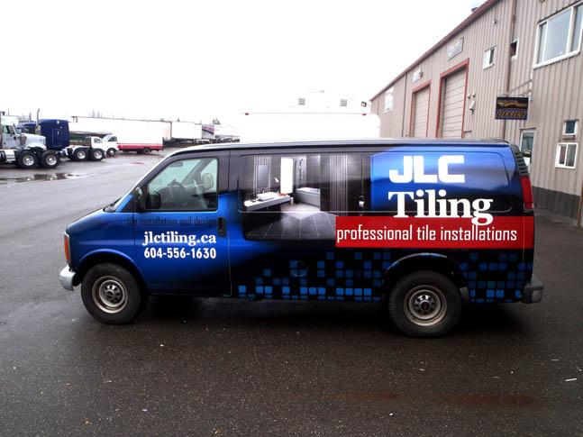 JLC Tiling Full Truck Wrap