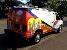 Koko Mobile Partial Van Wrap