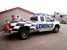 Lordco Partial Truck Wrap - Wrap Guys