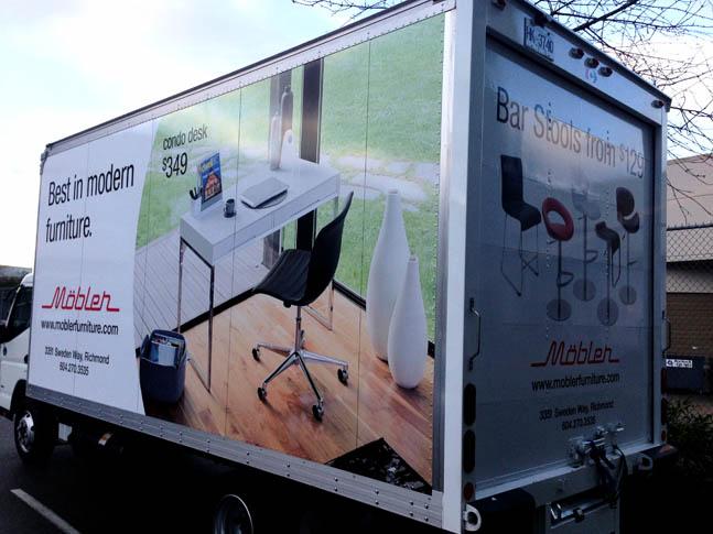 Cube Truck Wrap