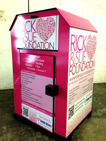 Rick & Sue Donation Bin Wrap