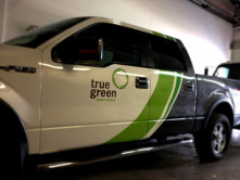 True Green Partial Truck Wrap
