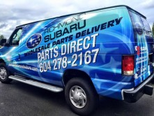 Richmond Subaru Van Vinyl Wrap
