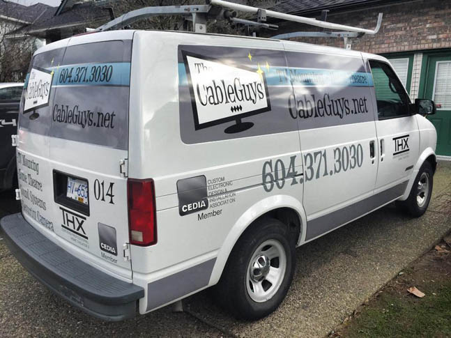 Cable Guys Van Wrap