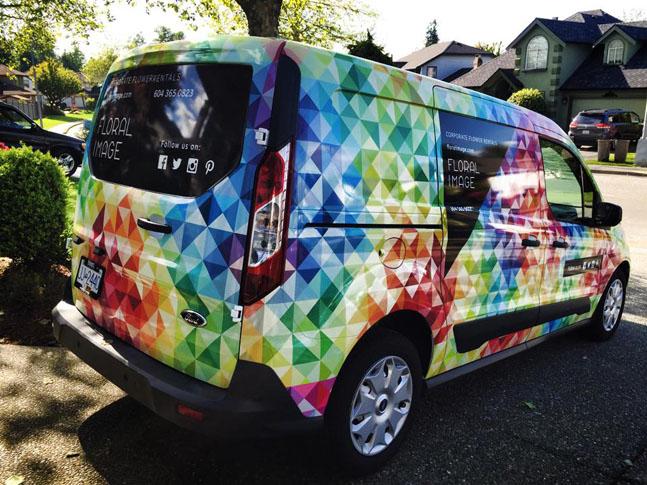 Floral Image Car Wrap