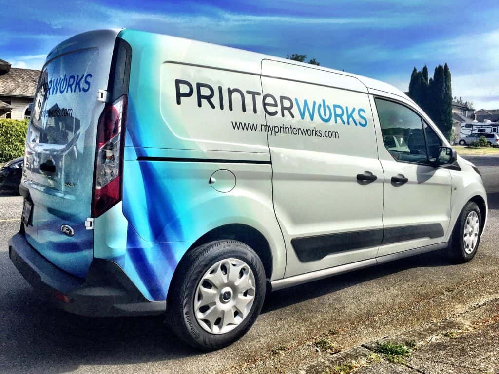 Printer Works Vinyl Wrap by Wrap Guys