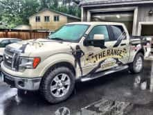 The Range Customized Vinyl Truck Wrap