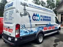 Custom van wrap for CDK Plumbing