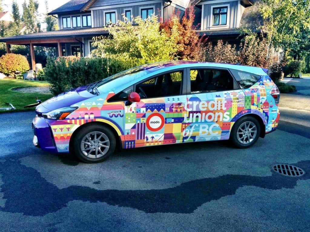 Custom wrap for Credit Unions of BC