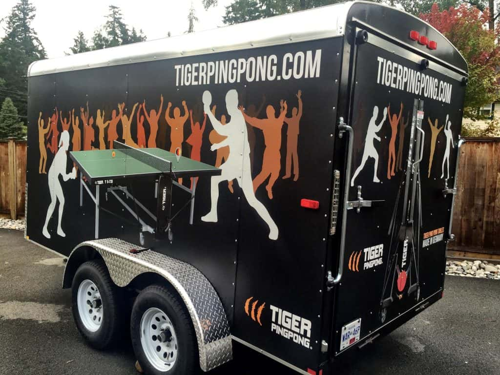 Custom Wrapped Trail for Tiger Ping Pong