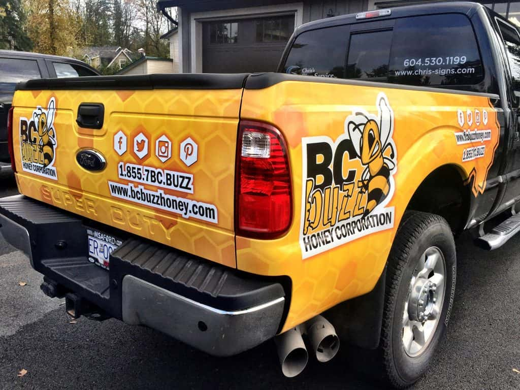 BC Buzz Honey Corporation Truck Wrap