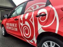 Wrap Guys car wrap for Boston Pizza