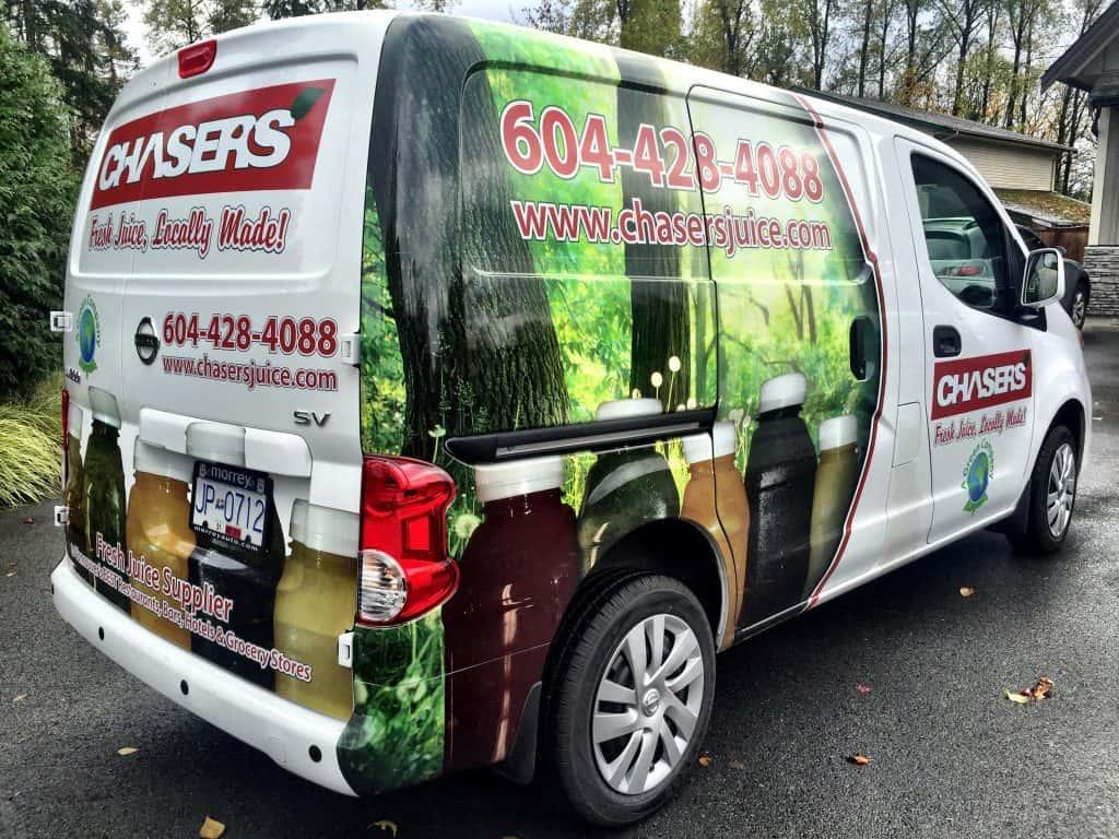 Chasers Juice van wrap