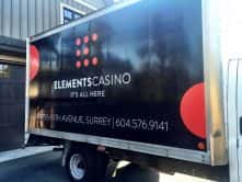 Wrap Guys truck wrap for Elements Casino