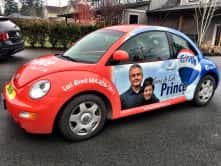 Custom car wrap for Gary and Lori Prince