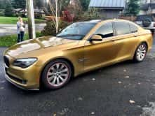 Custom Gold BMW wrap by Wrap Guys