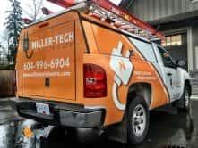 Custom vehicle wrap for Miller Tech Electric Ltd.