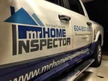 Truck wrap for Mr. Home Inspector