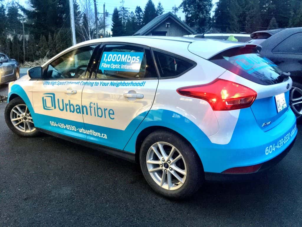 Custom car wrap for Urban Fibre