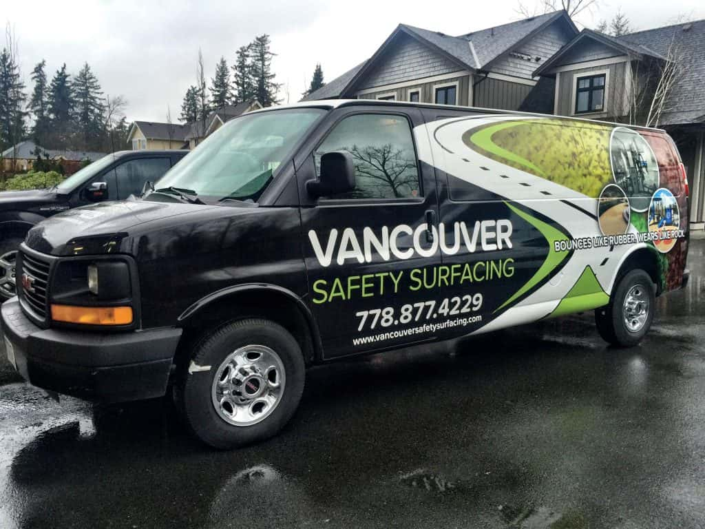 Wrap Guys van wrap for Vancouver Safety Surfacing
