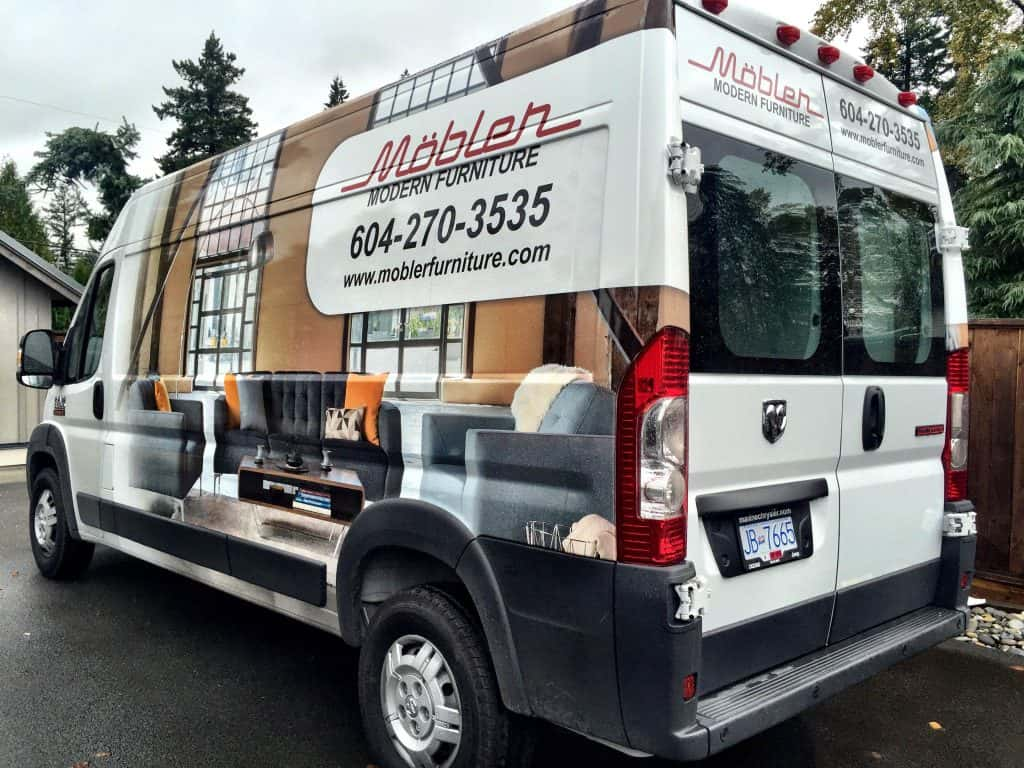 Mobler Modern Furniture van wrap