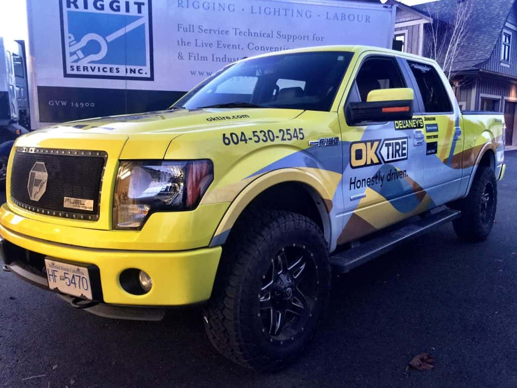 OK Tire truck wrap