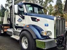 A customized semi-truck wrap by Wrap Guys