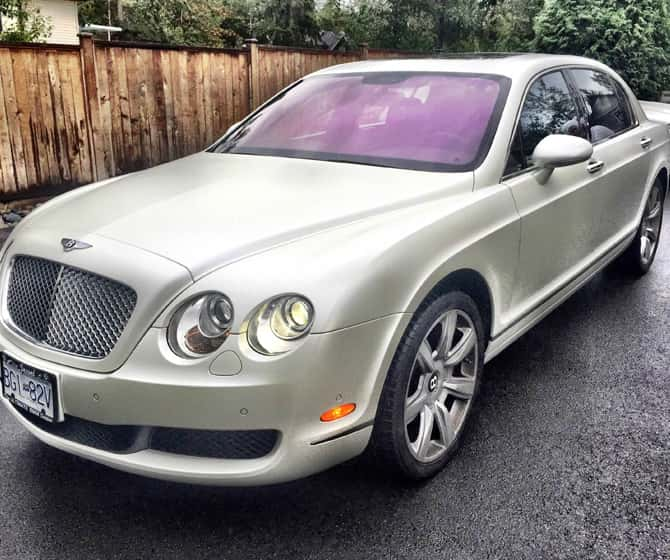 Bentley with a personal vehicle wrap