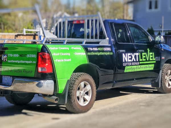 Next Level Gutter Repair truck wrap by Wrap Guys