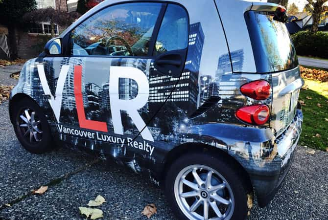 Vehicle wraps for real estate agents