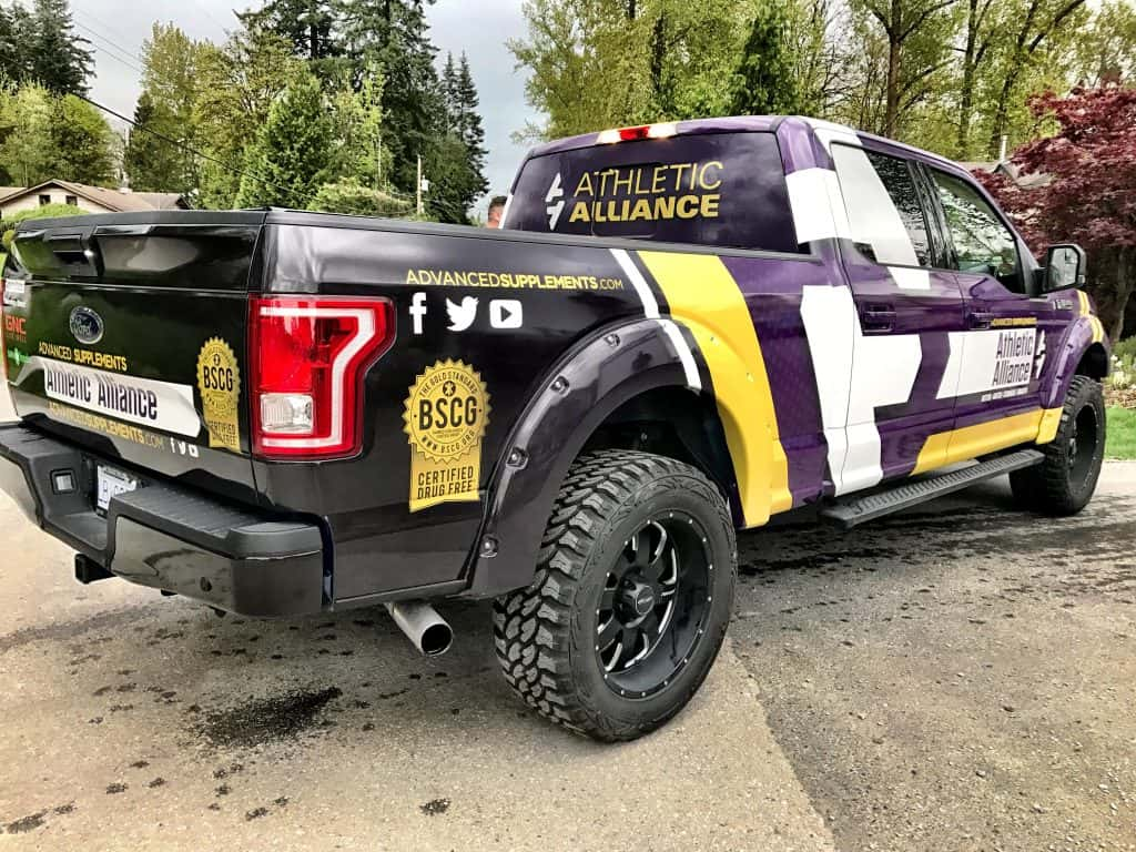 Athletic Alliance full vehicle wrap from Wrap Guys