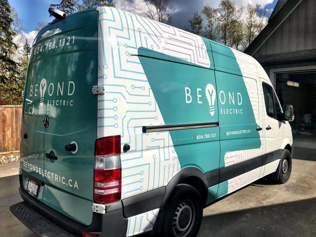 Beyond Electric full vehicle wrap by Wrap Guys