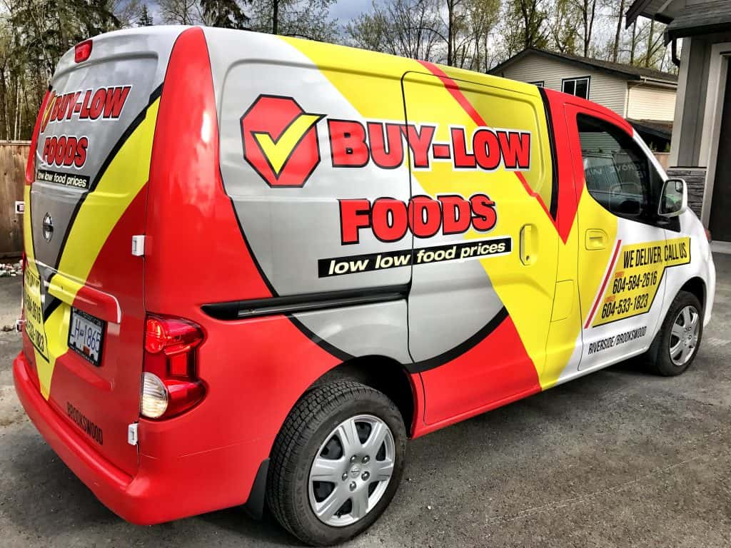 Buy-Low Foods full vehicle wrap