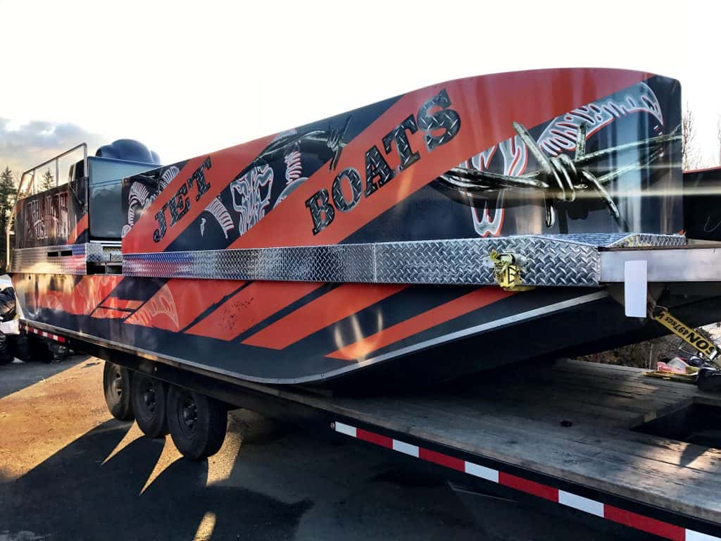 Jet Boats full boat wrap