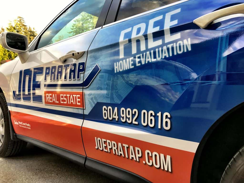 Joe Pratap Real Estate full vehicle wrap by Wrap Guys