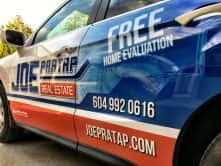 Joe Pratap Real Estate full vehicle wrap by Wrap Guys
