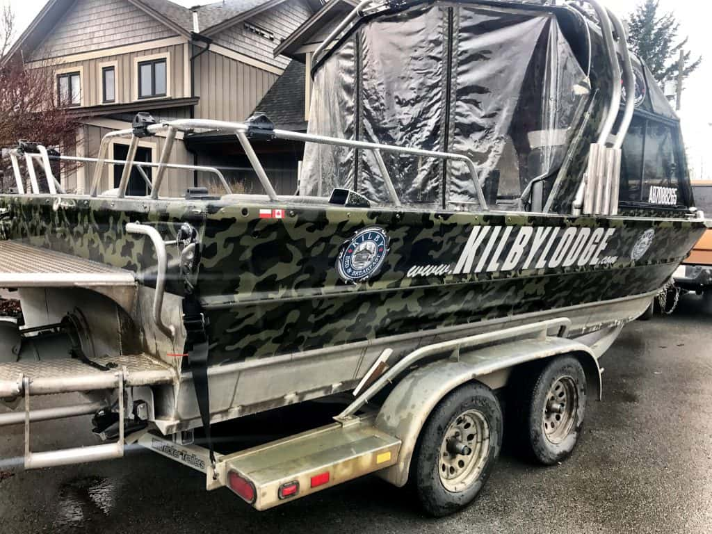 Kilby Lodge boat wrap