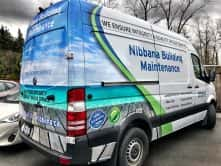 Nibbana Building Maintenance full vehicle wrap