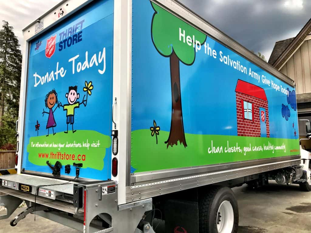Salvation Army truck wrap