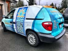 Sun Quest Pools full vehicle wrap