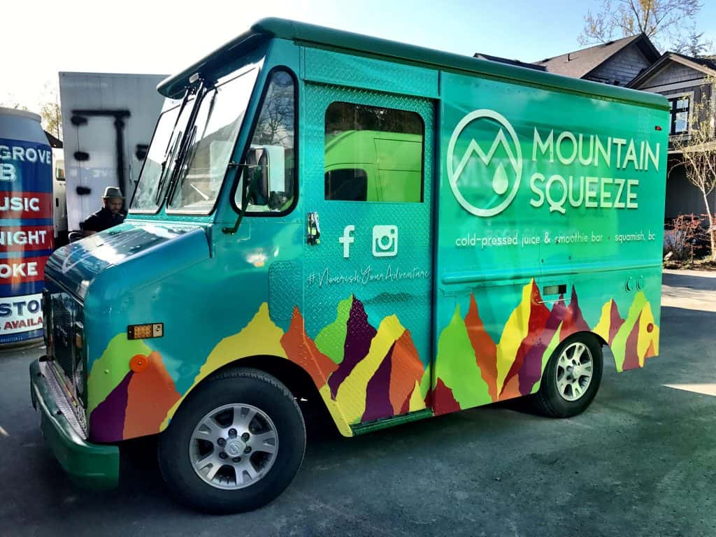 Mountain Squeeze full vehicle food truck wrap