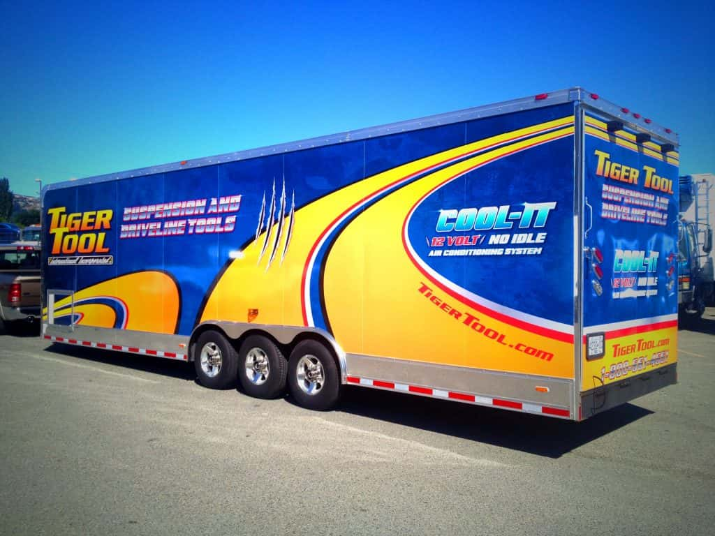 Semi-truck and tractor trailer wraps